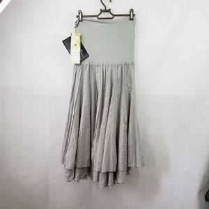 Lapis Gray Strapless Dress Size S